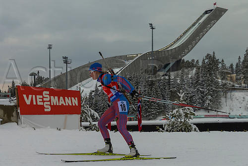 05.03.2016. Oslo Holmenkollen, Oslo, Norway. IBU Biathlon World Cup. Day One.  Olga Podchufarova of Russia competes in the Ladies 7.5km sprint competition during the IBU World Championships Biathlon in Holmenkollen Oslo, Norway.