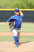 Jeff Beliveau of the Chicago Cubs plays in a minor league spring training game against the Los Angeles Angels at the Angels complex on April 2, 2011  in Tempe, Arizona. .Photo by:  Bill Mitchell/Four Seam Images.