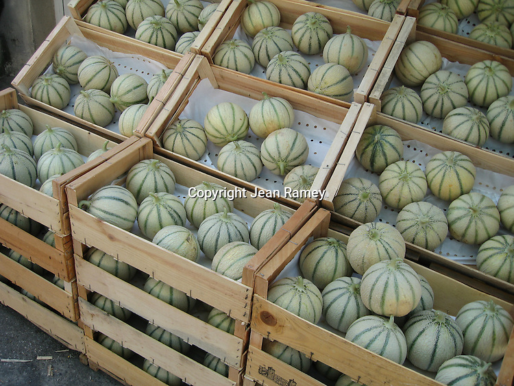 Cavaillon melons, a local specialty of Provence
