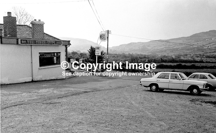 The Three Steps Bar and Lounge near Forkhill in N Ireland, UK, where the abduction of Captain Robert Nairac, a British Army officer, took place. 147/77, 197705000147c.<br /> <br /> Copyright Image from Victor Patterson, 54 Dorchester Park, Belfast, UK, BT9 6RJ<br /> <br /> t1: +44 28 9066 1296<br /> t2: +44 28 9002 2446<br /> m: +44 7802 353836<br /> <br /> e1: victorpatterson@me.com<br /> e2: victorpatterson@gmail.com<br /> <br /> www.victorpatterson.com<br /> <br /> IMPORTANT: Please see my Terms and Conditions of Use at www.victorpatterson.com