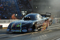 Jun. 30, 2012; Joliet, IL, USA: NHRA funny car driver Matt Hagan during qualifying for the Route 66 Nationals at Route 66 Raceway. Mandatory Credit: Mark J. Rebilas-