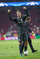 Chelsea´s Alvaro Morata celebrating during the UEFA Champions League group C match between Atletico Madrid and Chelsea played at the Wanda Metropolitano Stadium in Madrid, on September 27th 2017.