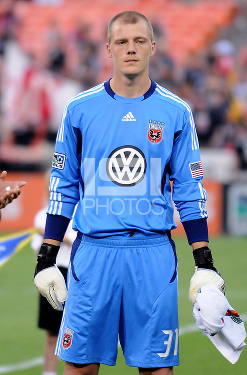 D.C. United goalkeeper Joe Willis (31)  File photo RFK stadium 2011 season.