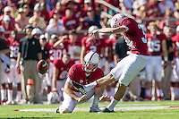 STANFORD, CA - OCTOBER 19, 2013: Conrad Ukropina during Stanford's game against UCLA. The Cardinal defeated the Bruins 24-10.