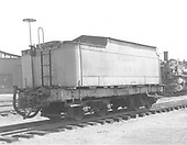 3/4 end view of auxilary water car OY.<br /> D&amp;RGW  Alamosa, CO