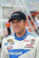 Jul. 4, 2008; Daytona Beach, FL, USA; NASCAR Sprint Cup Series driver Regan Smith during qualifying for the Coke Zero 400 at Daytona International Speedway. Mandatory Credit: Mark J. Rebilas-