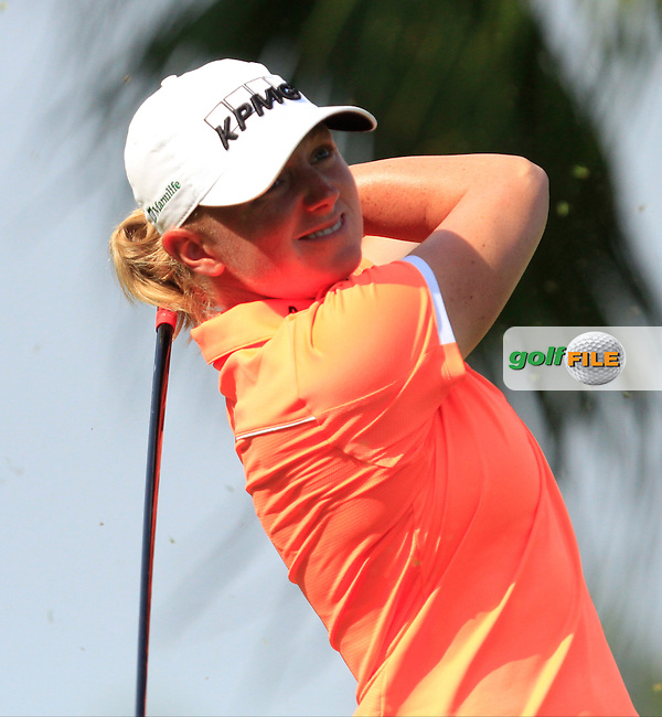 Stacy Lewis (USA) on the 2nd tee during Round 3 of the HSBC Women's Champions at the Sentosa Golf Club, The Serapong Course in Singapore on Saturday 7th March 2015.<br /> Picture:  Thos Caffrey / www.golffile.ie