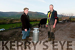 Colm Murphy, Lios Póil, with Kieran Murphy from Murphy's Ice Cream, Dingle, at Colm's farm.
