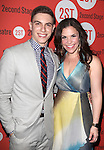 Derek Klena & Lindsey Mendez .attending the after Party for Off-Broadway Opening Night Performance of Second Stage Theatre's 'Dogfight' at HB Burger in New York City.