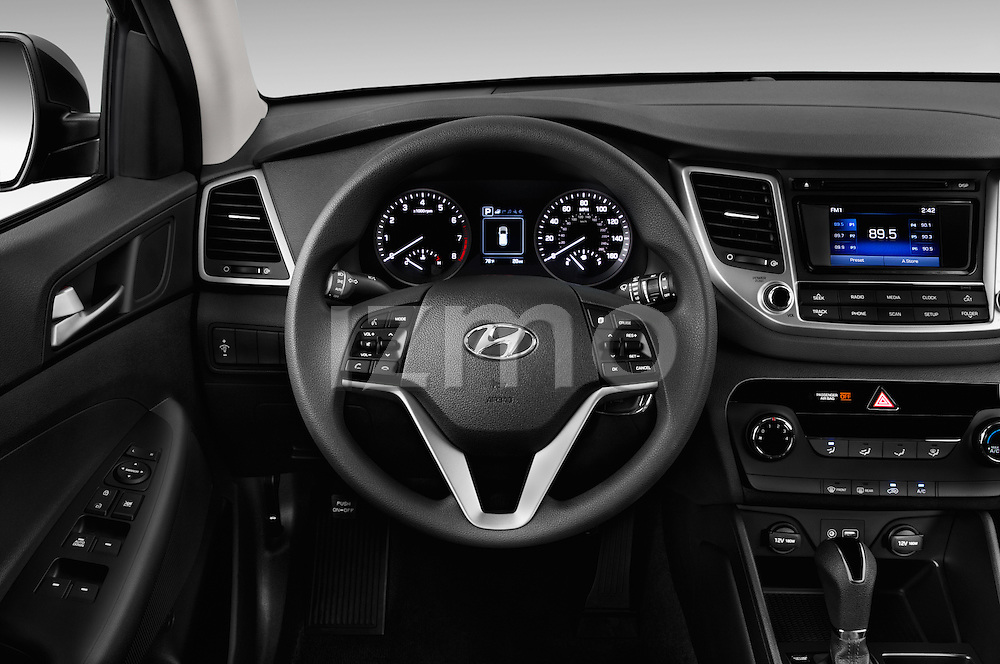 Car pictures of steering wheel view of a 2016 Hyundai Tucson SE 5 Door Suv Steering Wheel