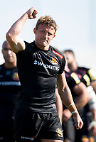 Exeter Chiefs' Lachlan Turner at the final whistle <br /> <br /> Photographer Bob Bradford/CameraSport<br /> <br /> Aviva Premiership Play-Off Semi Final - Exeter Chiefs v Newcastle Falcons - Saturday 19th May 2018 - Sandy Park - Exeter<br /> <br /> World Copyright &copy; 2018 CameraSport. All rights reserved. 43 Linden Ave. Countesthorpe. Leicester. England. LE8 5PG - Tel: +44 (0) 116 277 4147 - admin@camerasport.com - www.camerasport.com