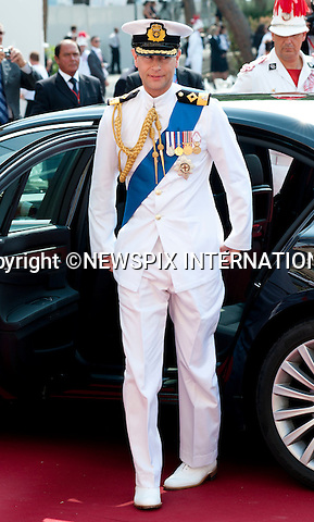 """MONACO ROYAL WEDDING .Prince Edward medals..Guests Arrive at the Religious wedding of H.S.H Prince Albert II and Miss Charlene Wittstock in the Prince's Palace._Prince's Palace Monaco 01/07/2011..Mandatory Photo Credit: ©Dias/Newspix International..**ALL FEES PAYABLE TO: """"NEWSPIX INTERNATIONAL""""**..PHOTO CREDIT MANDATORY!!: NEWSPIX INTERNATIONAL(Failure to credit will incur a surcharge of 100% of reproduction fees)..IMMEDIATE CONFIRMATION OF USAGE REQUIRED:.Newspix International, 31 Chinnery Hill, Bishop's Stortford, ENGLAND CM23 3PS.Tel:+441279 324672  ; Fax: +441279656877.Mobile:  0777568 1153.e-mail: info@newspixinternational.co.uk"""