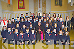 Pupils from Currow NS who were confirmed by Bishop Bill Murphy in the Church of the Immaculate Conception, Currow on Thursday with Fr Sugure, Principal Margaret Hannafin, and teachers Miss Falvey and ....