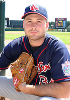 July 13, 2003:  Pitcher Jamie Brown of the Pawtucket Red Sox, Class-AAA affiliate of the Boston Red Sox, during a International League game at Frontier Field in Rochester, NY.  Photo by:  Mike Janes/Four Seam Images