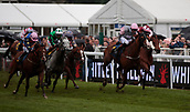 June 10th 2017, Chester Racecourse, Cheshire, England; Chester Races Horse racing Dougie Costello rides Dragon King to victory in the Whitley Neill Gin Stakes