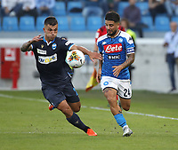 27th October 2019; Stadio Paolo Mazza, Ferrara, Emilia Romagna, Italy; Serie A Football, SPAL versus Napoli; Lorenzo Insigne of Napoli challenges  Gabriel Strefezza of Spal  - Editorial Use