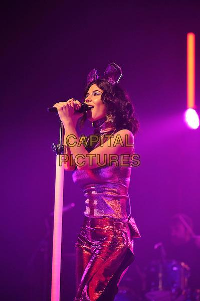 LONDON, ENGLAND - DECEMBER 6: Marina Diamandis of 'Marina and The Diamonds' performing at London Palladium on December 6, 2015 in London, England.<br /> CAP/MAR<br /> &copy; Martin Harris/Capital Pictures