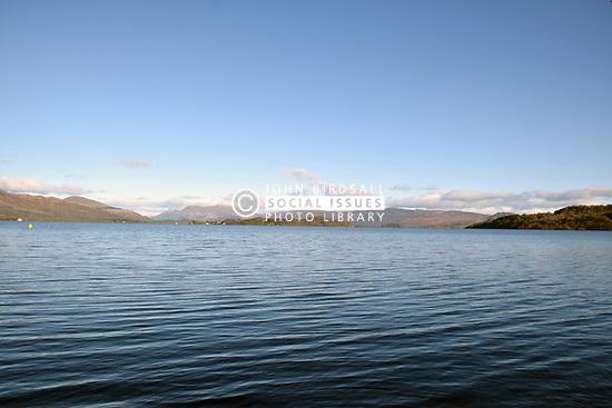 Loch Lomond - snow on Ben Lomond in the background, Scotland
