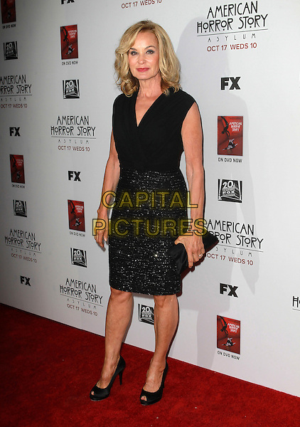 "Jessica Lange.Premiere Screening Of FX's ""American Horror Story: Asylum"" Held At The Paramount Theatre, Hollywood, California, USA..October 13th, 2012.full length black sleeveless top skirt sparkly clutch bag.CAP/ADM/KB.©Kevan Brooks/AdMedia/Capital Pictures."