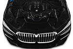 Car stock 2020 BMW 7 Series M Sport 4 Door Sedan engine high angle detail view