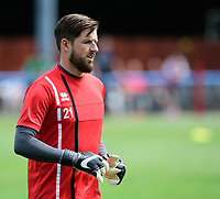 Lincoln City's Josh Vickers during the pre-match warm-up <br /> <br /> Photographer Chris Vaughan/CameraSport<br /> <br /> Football - Pre-Season Friendly - Lincoln United v Lincoln City - Saturday 8th July 2017 - Sun Hat Villas Stadium - Lincoln<br /> <br /> World Copyright &copy; 2017 CameraSport. All rights reserved. 43 Linden Ave. Countesthorpe. Leicester. England. LE8 5PG - Tel: +44 (0) 116 277 4147 - admin@camerasport.com - www.camerasport.com