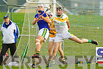 Darragh Shanahan Lixnaw in action against Colman Savage Kilmoyley in the County Senior Hurling final at Austin Stack Park on Saturday.