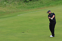 Shane Lowry (IRL) on the 11th during the preview of the the 148th Open Championship, Portrush golf club, Portrush, Antrim, Northern Ireland. 17/07/2019.<br /> Picture Thos Caffrey / Golffile.ie<br /> <br /> All photo usage must carry mandatory copyright credit (© Golffile | Thos Caffrey)