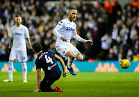 Leeds United's Adam Forshaw battles with Derby County's Craig Bryson<br /> <br /> Photographer Alex Dodd/CameraSport<br /> <br /> The EFL Sky Bet Championship -  Leeds United v Derby County - Friday 11th January 2019 - Elland Road - Leeds<br /> <br /> World Copyright &copy; 2019 CameraSport. All rights reserved. 43 Linden Ave. Countesthorpe. Leicester. England. LE8 5PG - Tel: +44 (0) 116 277 4147 - admin@camerasport.com - www.camerasport.com
