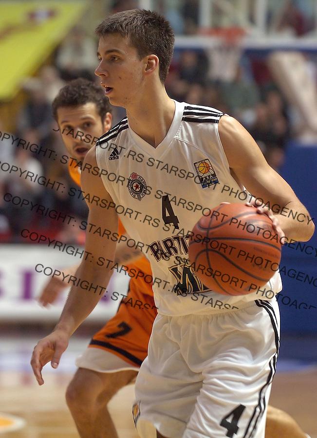 kosarka, good year league.PARTIZAN-SIBENKA.UROS TRIPKOVIC.BGD, 06.10.2004..FOTO: SRDJAN STEVANOVIC