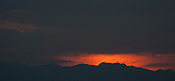 Sunset over the hills of central Japan in late summer.