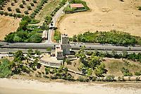 PESCARA 19/07/2012:Foto aere della costa abruzzese. Nella foto la torre di Cerrano - Silvi (TE)  Foto Adamo Di Loreto/BuenaVista*photo