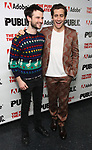 """Tom Sturridge and Jake Gyllenhaal attends the """"Sea Wall / A Life"""" opening night at The Public Theater on February 14, 2019, in New York City."""