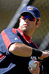 5 March 2007: Washington Nationals center fielder Ryan Church prepares to take batting practice prior to facing the Atlanta Braves at Disney's Wide World of Sports in Orlando, Florida. The Braves are celebrating 10 years at the Disney facility.<br /> <br /> Mandatory Photo Credit: Ed Wolfstein Photo