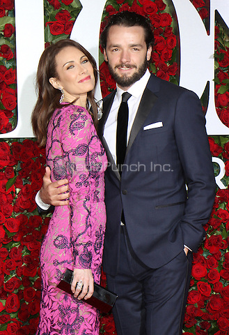 NEW YORK, NY-June 12:  Laura Benanti, Patrick Brown at the 70th Annual Tony Awards at the Beacon Theatre in New York. NY June 12, 2016. Credit:RW/MediaPunch