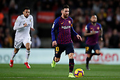2nd February 2019, Camp Nou, Barcelona, Spain; La Liga football, Barcelona versus Valencia; Lionel Messi of FC Barcelona runs with the ball