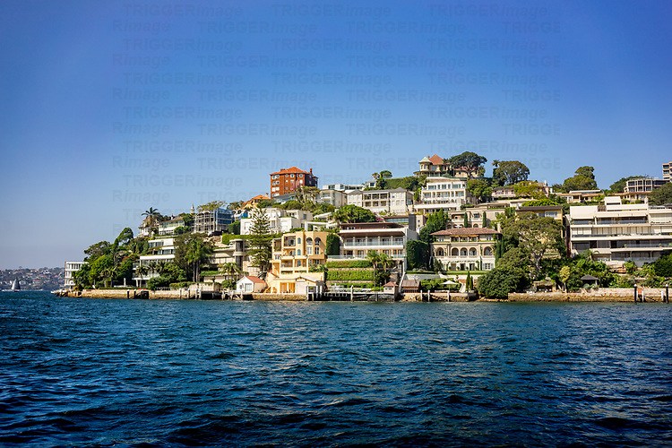 Large private residential properties in Sydney harbour, Australia