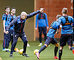 Mark Warburton getting active with his Rangers players
