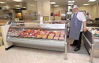 Stuart Fletcher at the butcher's counter