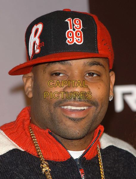 DAMON DASH.CEO of ROC-A-WEAR clothing photocall at Selfridges, Oxford Street, London.10 December 2003.headshot, portrait, baseball cap.sales@capitalpictures.com.www.capitalpictures.com.©Capital Pictures