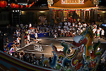 Chung Hsien Lan of Taiwan performs in the international slam-dunk contest at TinHau Temple ahead of the Red Bull King of the Rock World Finals, Taitung City, Taiwan, on September 5th 2014.