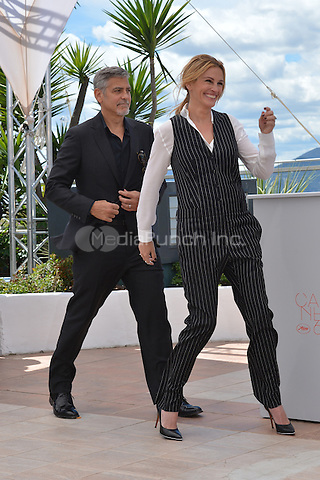 George Clooney and Julia Roberts at the Photocall &acute;Money Monster` - 69th Cannes Film Festival on May 12, 2016 in Cannes, France.<br /> CAP/LAF<br /> &copy;Lafitte/Capital Pictures /MediaPunch ***NORTH AMERICAN AND SOUTH AMERICAN SALES ONLY***