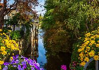 Deutschland, Baden-Wuerttemberg, Schwarzwald, Zell am Harmersbach: Idylle am Harmersbach | Germany, Baden-Wurttemberg, Black Forest, Zell at Harmersbach with brook Harmersbach