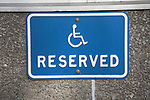 Sign for reserved disabled parking