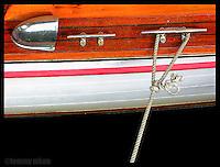 Boat deck detail, old Chris Craft