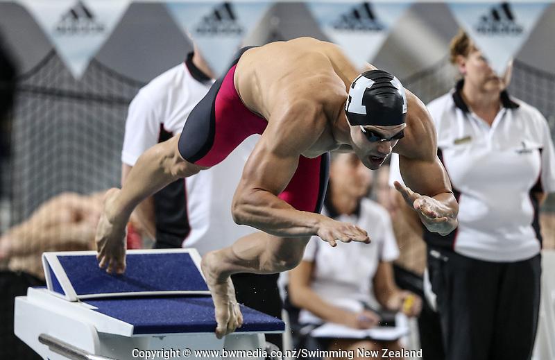Matt Shead during the New Zealand Open Swimming Championships, Owen G Glenn National Aquatic Centre, Auckland, New Zealand. Thursday 31 March 2016 Photo: Simon Watts / www.bwmedia.co.nz