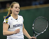 The University of Michigan women's tennis team beat No. 2 Duke, 4-3, at the Varsity Tennis Center in Ann Arbor, Mich., on March 1, 2013.