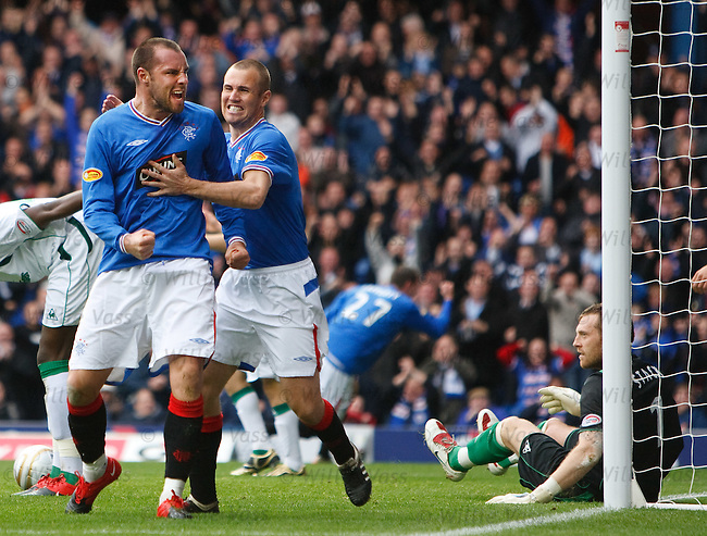 Kris Boyd roars his delight  after scoring for Rangers
