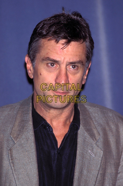 """ROBERT DENIRO.""""Deauville Film Festival"""" 1995.Ref: 1475.portrait headshot, serious face, grey blazer, black shirt.sales@capitalpictures.com.www.capitalpictures.com.©Capital Pictures"""