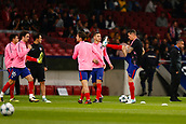 31st October 2017, Wanda Metropolitano, Madrid, Spain; UEFA Champions League, Atletico Madrid versus Qarabag FK; Fernando Torres (9) of Atletico Madrid during the warm-up