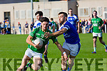 In Action  Maine's Jonathan O'Sullivan and KOR's Danny O'Sullivan  at the Garveys Senior Football Championship Kerins O'Rahilly V Milltown/Castlemaine at Strand Rd on Sunday